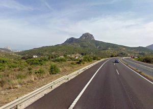A7, a su paso por Els Lleus, Benissa