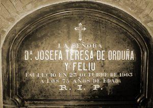 Sepulcro de Doña Josefa de Orduña