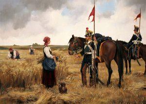 Lanceros, por Ferrer-Dalmau