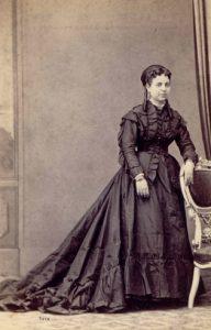 Doña Clara Torres Orduña en su juventud. Hacia 1872. Guadalest