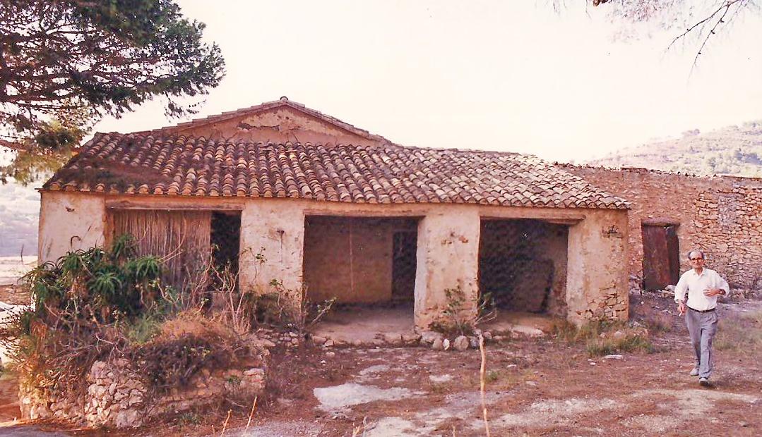 """el ti Pepe juanto al riu rau de la Casa de Águeda"""". Junio de 1999"""