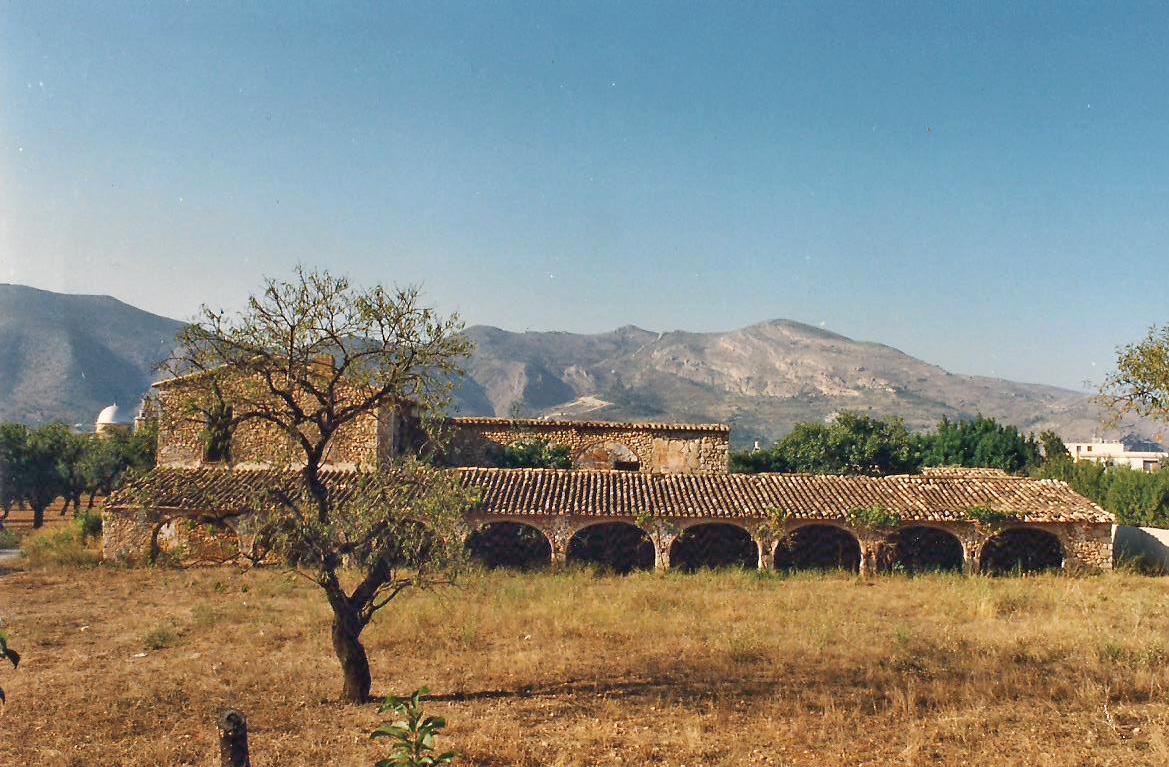 Casa de Les Duranes, Benibray, Xaló, en 1990