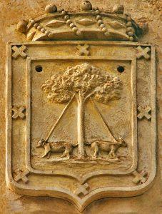 Escudo de armas de los Rodríguez de la Encina. Onteniente.