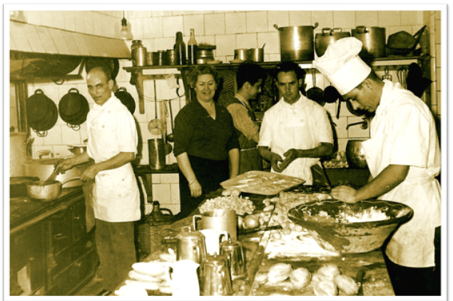 Cocina del Parador. Años 50