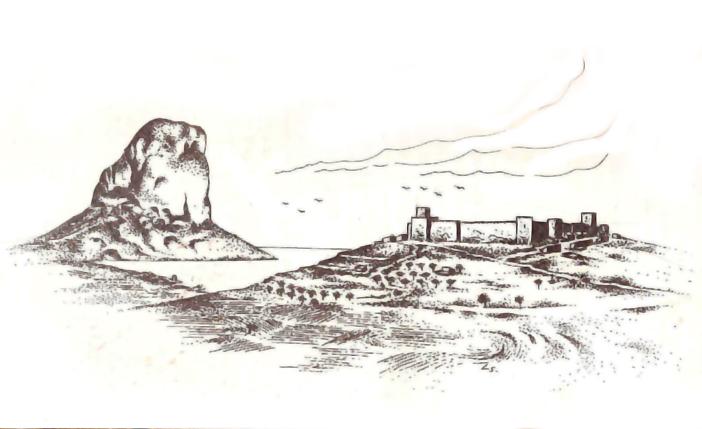 Idealización de las murallas medievales de Calp. Autor: Luis Serna