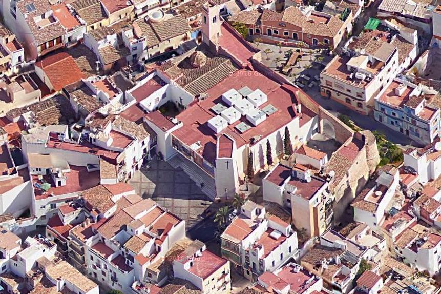 Plaza de la Villa actual. Vista 3D. Google Maps